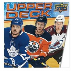 2020-21 Upper Deck Series 1 Hockey Starter Kit Binder Includes 3 packs